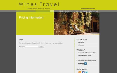 Screenshot of Login Page wines-travel.com - Wines Travel | maps » Wines Travel | - captured Oct. 26, 2014