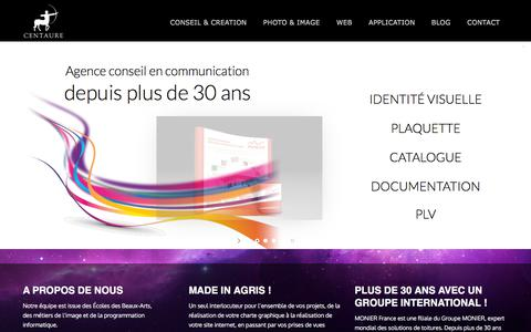 Screenshot of Home Page centaure-net.com - CENTAURE | Agence de Communication, agence web et studio de photographie - captured Sept. 25, 2018