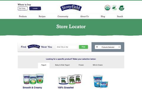 Product & Store Locator | Stonyfield Organic Farm