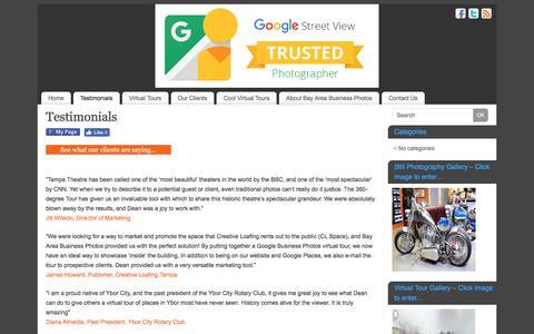 Screenshot of Testimonials Page trustedphotofl.com - Testimonials | Where to get Virtual Photo Tours - captured Nov. 22, 2016