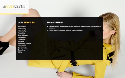 Screenshot of Team Page e-comstudio.com - Management  |  E-commerce Photography | E-Commerce Photographer | Product Photography - captured Oct. 28, 2014