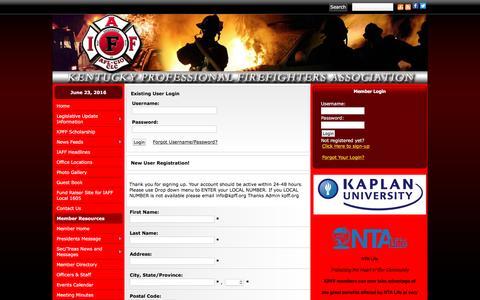 Screenshot of Login Page kpff.org - KPFF - captured June 24, 2016