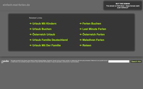 Screenshot of Home Page einfach-mal-ferien.de - einfach-mal-ferien.de-This website is for sale!-einfach-mal-ferien Resources and Information. - captured Sept. 7, 2015
