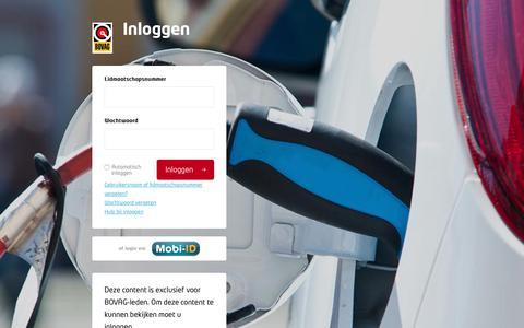 Screenshot of Login Page bovag.nl - Mijn BOVAG -  Inloggen - captured Oct. 5, 2018