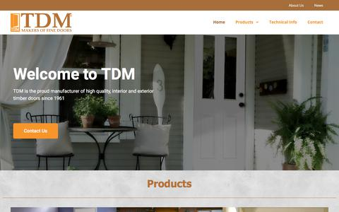 Screenshot of Home Page tdm.co.za - Home - Timber Door Manufacturers - captured Nov. 2, 2017
