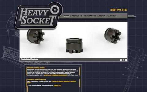 Screenshot of Home Page heavysocket.com - Heavysocket.com | The premier provider of hex, bi-hex, castellated, and impact sockets! - captured Oct. 2, 2014