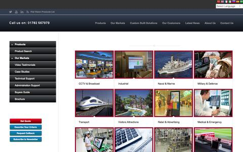 Screenshot of Case Studies Page flatvision.co.uk - Case Studies - flatvision.co.uk - captured Nov. 18, 2015