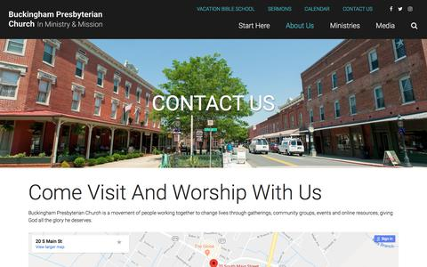 Screenshot of Contact Page Maps & Directions Page buckinghampcusa.org - Contact Us | Buckingham Presbyterian Church - captured July 3, 2018