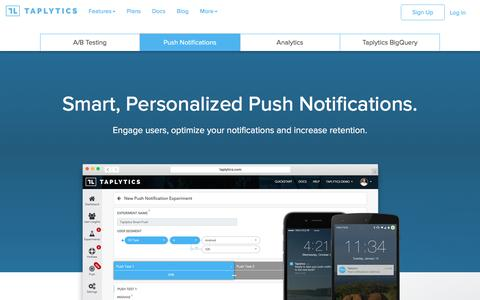 Smart Push Notifications | Taplytics