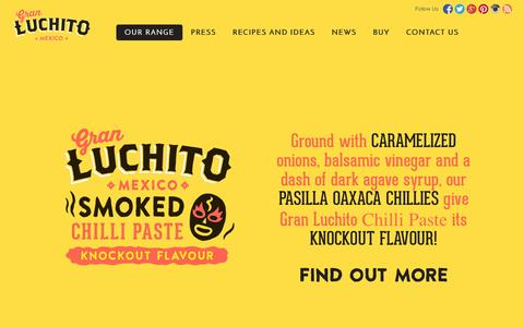 Screenshot of Products Page luchito.co.uk - The Gran Luchito Product Range - captured Nov. 2, 2014