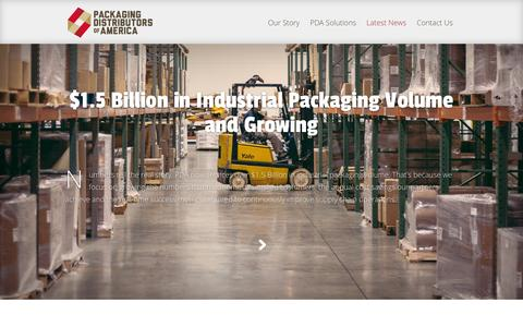 Screenshot of Press Page pdachain.com - Latest News | Packaging Distributors of America (PDA) - captured Oct. 1, 2014