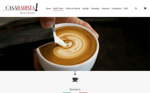 Screenshot of Services Page casabarista.nl - Service van CasaBarista - CasaBarista - dé koffie specialist - captured Sept. 27, 2018