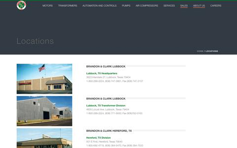 Screenshot of Locations Page brandonclark.com - Locations – Brandon & Clark, Inc. - captured July 6, 2017