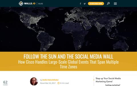 Screenshot of walls.io - How Cisco Handles Large-Scale Global Events | Walls.io Blog - captured Jan. 4, 2018