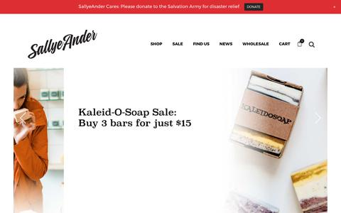 Screenshot of Home Page sallyeander.com - Natural Skincare from SallyeAnder - The Best Soaps in America | 100% Hypoallergenic Soaps - captured Oct. 4, 2017