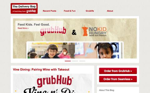 Screenshot of Blog grubhub.com - The Delivery Bag by GrubHub Inc. | A food blog from Grubhub - captured Oct. 28, 2014