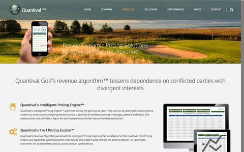 Screenshot of Products Page quantival.com - Products - QuantivalQuantival - captured Oct. 3, 2014