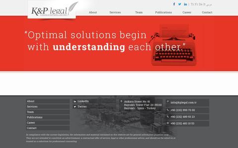 Screenshot of Press Page kplegal.com.tr - K&P Legal | Global Legal Firm - captured Dec. 16, 2015