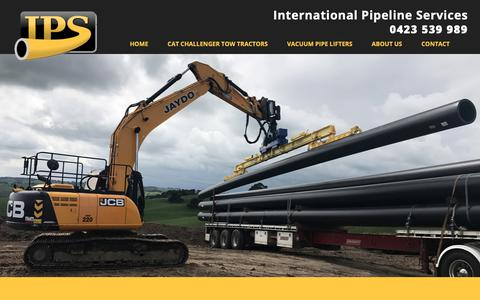Screenshot of About Page int-pipe-serv.com - About Us - International Pipeline Services - captured Dec. 19, 2018