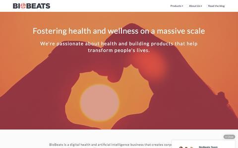 Screenshot of About Page biobeats.com - About Us   BioBeats - captured July 4, 2016
