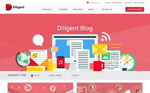 Screenshot of Blog diligent.com - Diligent Blog - Diligent - captured Aug. 25, 2016
