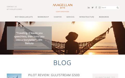 Screenshot of Blog magellanjets.com - Blog | Magellan Jets - captured June 21, 2017