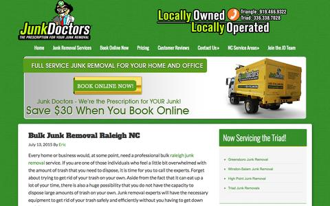 Screenshot of Services Page junkdrs.com - Services Archives - Junk Doctors - captured Aug. 5, 2015