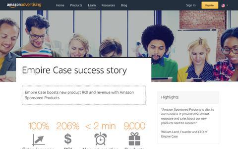 Screenshot of Case Studies Page amazon.com - Amazon Advertising - captured Sept. 25, 2019