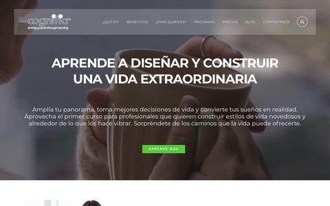 Screenshot of Home Page cognitia.co - Cognitia – Diseño de vida – Cognitia – Programa Diseño de vida - captured July 19, 2018