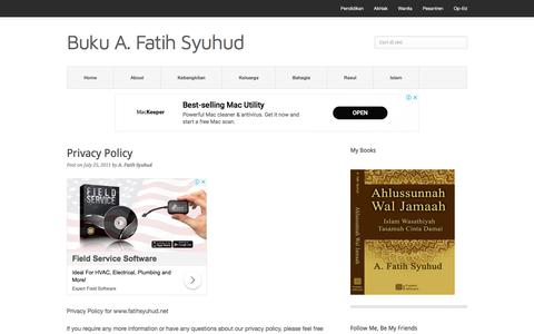 Screenshot of Privacy Page fatihsyuhud.net - Privacy Policy - captured Sept. 22, 2018