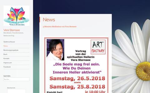 Screenshot of Press Page wordpress.com - News – Vera Sternsee - captured June 14, 2018