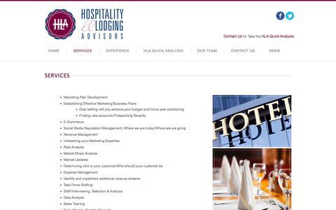 Screenshot of Services Page hl-advisors.com - Services   HL Advisors - captured Oct. 2, 2014