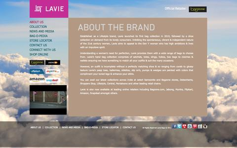Screenshot of About Page lavieaccessories.com - Buy Bags Online | Handbags Online | Bags Suppliers | Bags Manufacturer –  Contact LavieAccessories.com - captured Oct. 31, 2014