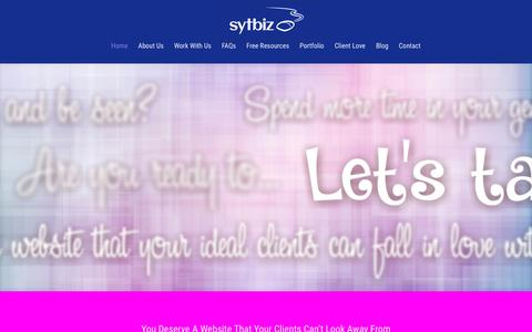 Screenshot of Home Page sytbiz.com - SYT Biz - WordPress Website Design - captured March 29, 2016