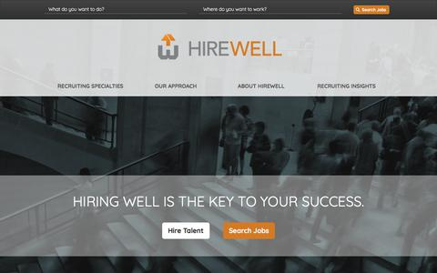 Screenshot of Home Page hirewell.com - Home | Hirewell - captured Sept. 20, 2018