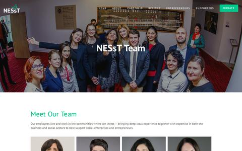 Screenshot of Team Page nesst.org - Staff Team and Board | Global Presence | Local Expertise | NESsT - captured Sept. 20, 2018
