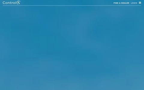 Screenshot of Home Page control4.com - Home Automation and Smart Home Control   Control4 - captured Sept. 2, 2015