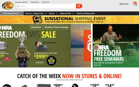 Screenshot of Home Page basspro.com - Welcome to Bass Pro Shops - captured July 22, 2017