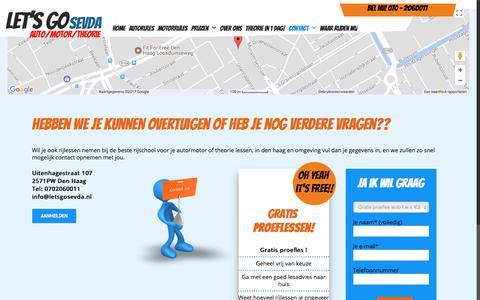 Screenshot of Contact Page letsgosevda.nl - Contact - Lets go Sevda - captured Oct. 23, 2017