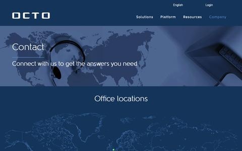 Screenshot of Contact Page octousa.com - Contact Octo Telematics | Insurance Telematics Service Provider - captured May 21, 2019
