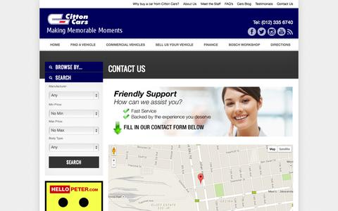 Screenshot of Contact Page Maps & Directions Page cittoncars.co.za - Contact Us » | Citton Cars Gezina - captured Oct. 22, 2014