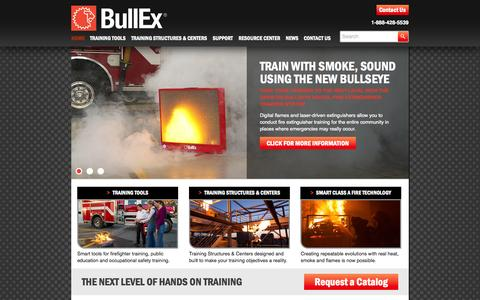 Screenshot of Home Page bullex.com - Home - Bullex - captured Sept. 30, 2014