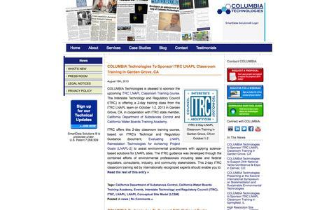 Screenshot of Blog columbiatechnologies.com - COLUMBIA Technologies | News | High Resolution Site Characterization | COLUMBIA Technologies - captured Sept. 30, 2014