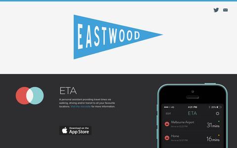Screenshot of Home Page madebyeastwood.com - Eastwood - iPhone and iPad design & development - Melbourne Australia - captured Nov. 3, 2015