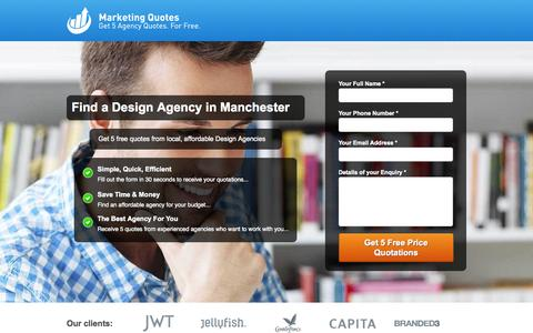 Screenshot of Landing Page marketingquotes.co.uk - Marketing Quotes - Find a Local Design Agency in Manchester - captured Oct. 27, 2014