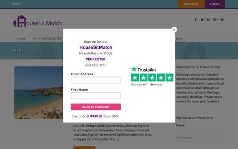 Screenshot of Blog housesitmatch.com - Blog - Housesit Match - captured Sept. 30, 2018