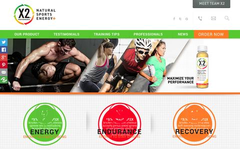 Screenshot of Case Studies Page x2performance.com - Best Natural Pre Workout Supplement – X2 Performance - captured Oct. 4, 2014