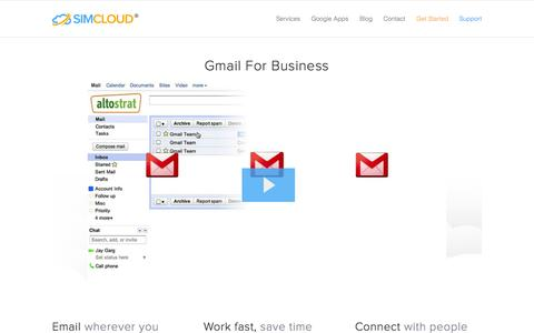 Screenshot of Products Page simcloud.com - Gmail for Business - Google Apps | Powerful Business Email - captured Oct. 6, 2014