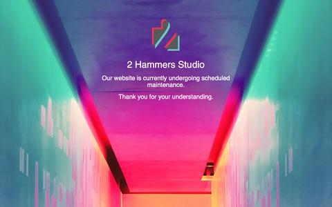 Screenshot of Home Page 2hammers.com - Make your business success with an Outstanding Digital Marketing Agency   2 Hammers Studio - captured Oct. 18, 2018