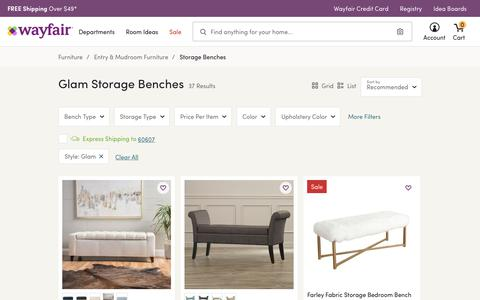 Glam Storage Benches You'll Love | Wayfair
